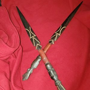 African wood spears